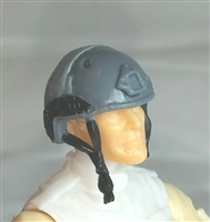 "Headgear: Half-Shell Helmet GRAY Version - 1:18 Scale Modular MTF Accessory for 3-3/4"" Action Figures"