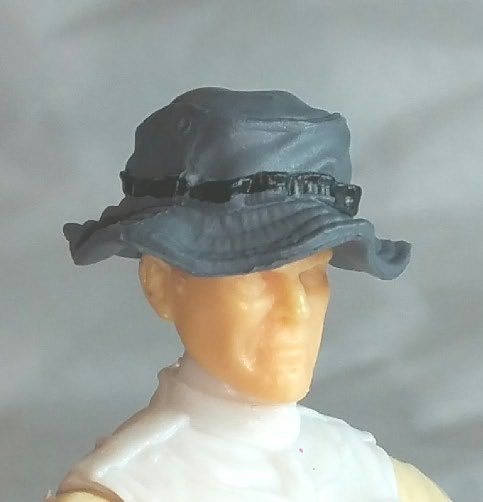 15bd40d6704 Headgear  Boonie Hat GRAY Version - 1 18 Scale Modular MTF Accessory for 3-3  4