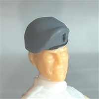 "Headgear: Beret GRAY Version - 1:18 Scale Modular MTF Accessory for 3-3/4"" Action Figures"