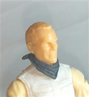 "Headgear: Standard Neck Scarf GRAY Version - 1:18 Scale Modular MTF Accessory for 3-3/4"" Action Figures"
