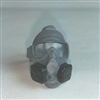 "Headgear: Gasmask GRAY Version - 1:18 Scale Modular MTF Accessory for 3-3/4"" Action Figures"