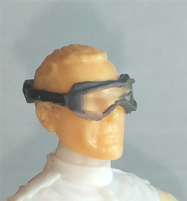 "Headgear: Standard Goggles with Strap GRAY Version - 1:18 Scale Modular MTF Accessory for 3-3/4"" Action Figures"