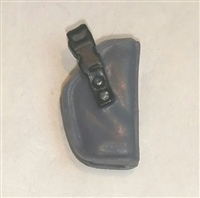"Pistol Holster: Small  Right Handed GRAY Version - 1:18 Scale Modular MTF Accessory for 3-3/4"" Action Figures"