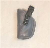 "Pistol Holster: Small Left Handed GRAY Version - 1:18 Scale Modular MTF Accessory for 3-3/4"" Action Figures"
