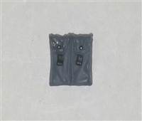 "Ammo Pouch: Double Magazine GRAY Version - 1:18 Scale Modular MTF Accessory for 3-3/4"" Action Figures"