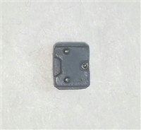 "Armor Panel: Small Size GRAY Version - 1:18 Scale Modular MTF Accessory for 3-3/4"" Action Figures"