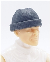 "Headgear: Knit Cap ""Ski Cap"" GRAY Version - 1:18 Scale Modular MTF Accessory for 3-3/4"" Action Figures"