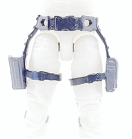 "Belt with Drop Down Leg Holster: GRAY & Black Version - 1:18 Scale Modular MTF Accessory for 3-3/4"" Action Figures"