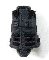 "Female Vest: High Collar Type Gray Version - 1:18 Scale Modular MTF Valkyries Accessory for 3-3/4"" Action Figures"