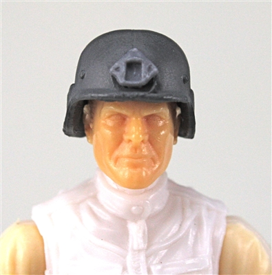 "Headgear: LWH Combat Helmet GRAY Version - 1:18 Scale Modular MTF Accessory for 3-3/4"" Action Figures"