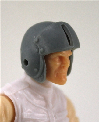 "Headgear: Gray Flight Helmet - 1:18 Scale Modular MTF Accessory for 3-3/4"" Action Figures"