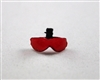 "Headgear: Visor for Flight Helmet: RED - 1:18 Scale Modular MTF Accessory for 3-3/4"" Action Figures"