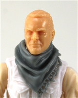 "Headgear: Large Neck Scarf ""Shemagh"" GRAY Version - 1:18 Scale Modular MTF Accessory for 3-3/4"" Action Figures"
