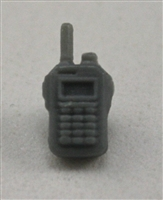 Radio Walkie Talkie: GRAY Version - 1:18 Scale MTF Accessory for 3 3/4 Inch Action Figures