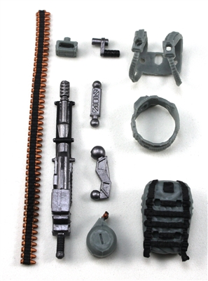 Steady-Cam Gun Gun-Metal DELUXE Set: Gray Version - 1:18 Scale Weapon Set for 3 3/4 Inch Action Figures