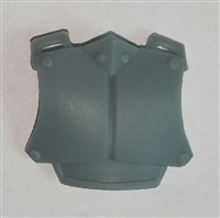 "Armor Chest Plate: GRAY Version - 1:18 Scale Modular MTF Accessory for 3-3/4"" Action Figures"