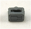 "MOUNT for Ammo Belt: GRAY Version - 1:18 Scale Modular MTF Accessory for 3-3/4"" Action Figures"