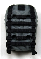 "Backpack: Modular Backpack GRAY Version - 1:18 Scale Modular MTF Accessory for 3-3/4"" Action Figures"