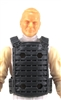 "Male Vest: Plate Carrier Type GRAY Version - 1:18 Scale Modular MTF Accessory for 3-3/4"" Action Figures"