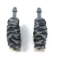 "Male Forearms: Gray Camo Cloth Forearms (NO Armor) - Right AND Left (Pair) - 1:18 Scale MTF Accessory for 3-3/4"" Action Figures"