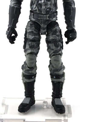 "Male Legs: Gray Camo Cloth Legs (NO Armor) -  Right AND Left Pair-NO WAIST-LEGS ONLY  - 1:18 Scale MTF Accessory for 3-3/4"" Action Figures"