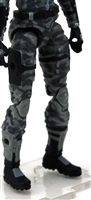 "Female Legs WITH Waist: GRAY CAMO Legs  - Right AND Left Legs WITH Waist - 1:18 Scale MTF Valkyries Accessory for 3-3/4"" Action Figures"