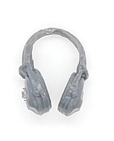 "Headgear: Radio Headset Headphones GRAY Version - 1:18 Scale Modular MTF Accessory for 3-3/4"" Action Figures"