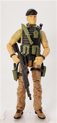 """NIGHT GREEN BERET"" Geared-Up MTF Male Trooper - 1:18 Scale Marauder Task Force Action Figure"