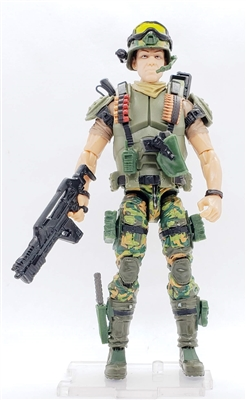 """BUG-HUNT"" Geared-Up MTF Male Trooper - 1:18 Scale Marauder Task Force Action Figure"