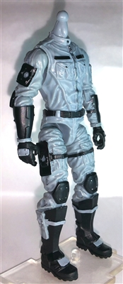 "MTF Male Trooper Body WITHOUT Head GRAY with Black ""Tech-Ops"" Version BASIC - 1:18 Scale Marauder Task Force Action Figure"