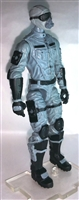 "MTF Male Trooper with Masked Goggles & Breather Head GRAY ""Tech-Ops"" Version BASIC - 1:18 Scale Marauder Task Force Action Figure"