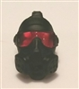 "Headgear: Gasmask BLACK with RED Tint Lenses  - 1:18 Scale Modular MTF Accessory for 3-3/4"" Action Figures"