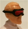 "Headgear: Standard Goggles BLACK Version with RED Tint Lenses   - 1:18 Scale Modular MTF Accessory for 3-3/4"" Action Figures"