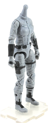 "MTF Female Valkyries Body WITHOUT Head GRAY ""Tech-Ops"" Version BASIC - 1:18 Scale Marauder Task Force Action Figure"