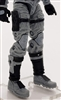 "Male Legs: GRAY and BLACK Cloth Legs (NO Armor) -  Right AND Left Pair-NO WAIST-LEGS ONLY  - 1:18 Scale MTF Accessory for 3-3/4"" Action Figures"