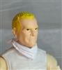 "Male Head: ""Trooper"" Light Skin Tone with Blonde Hair - 1:18 Scale MTF Accessory for 3-3/4"" Action Figures"