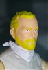 "Male Head: ""Trooper"" Light Skin Tone with BLONDE BEARD - 1:18 Scale MTF Accessory for 3-3/4"" Action Figures"