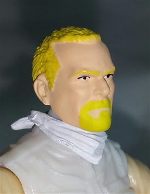 "Male Head: ""Trooper"" Light Skin Tone with BLONDE GOATEE - 1:18 Scale MTF Accessory for 3-3/4"" Action Figures"
