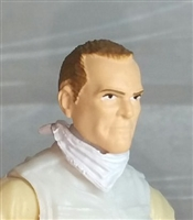 "Male Head:""Trooper"" Light Skin Tone with Brown Hair - 1:18 Scale MTF Accessory for 3-3/4"" Action Figures"