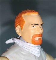 "Male Head: ""Trooper"" Light Skin Tone with RED GOATEE - 1:18 Scale MTF Accessory for 3-3/4"" Action Figures"