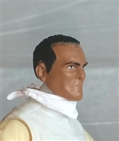 "Male Head: ""Trooper"" Tan Skin Tone with Black Hair - 1:18 Scale MTF Accessory for 3-3/4"" Action Figures"