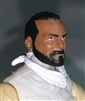 "Male Head: ""Trooper"" Tan Skin Tone with BLACK BEARD  - 1:18 Scale MTF Accessory for 3-3/4"" Action Figures"