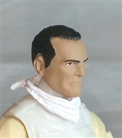 "Male Head: ""Trooper"" Light Tan Skin Tone with Black Hair - 1:18 Scale MTF Accessory for 3-3/4"" Action Figures"