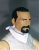 "Male Head: ""Trooper"" Medium Skin Tone with BLACK GOATEE  - 1:18 Scale MTF Accessory for 3-3/4"" Action Figures"