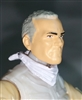 "Male Head: ""Trooper"" Light Skin Tone with Gray Hair - 1:18 Scale MTF Accessory for 3-3/4"" Action Figures"
