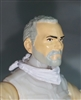 "Male Head: ""Trooper"" Light Skin Tone with GRAY BEARD - 1:18 Scale MTF Accessory for 3-3/4"" Action Figures"