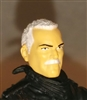"Male Head: ""Trooper"" Light Skin Tone with WHITE MUSTACHE - 1:18 Scale MTF Accessory for 3-3/4"" Action Figures"