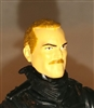 "Male Head: ""Trooper"" Light Skin Tone with BROWN MUSTACHE - 1:18 Scale MTF Accessory for 3-3/4"" Action Figures"