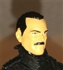 "Male Head: ""Trooper"" Light Skin Tone with BLACK MUSTACHE - 1:18 Scale MTF Accessory for 3-3/4"" Action Figures"