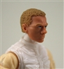 "Male Head: ""Vanguard"" Light Skin Tone with Light Brown Hair - 1:18 Scale MTF Accessory for 3-3/4"" Action Figures"